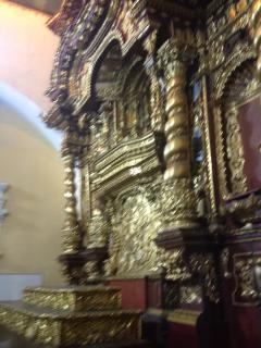 Museo de la Ciudad de Quito.- Capilla donde se reunén con la Filarmónica/ ( iPhone mío)