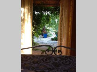 View from the Casita bedroom with french doors