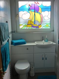 Bathroom at our holiday home in Port Eynon Gower