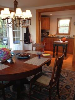The dining room is a comfortable, bright and inviting room. The perfect place for entertaining.