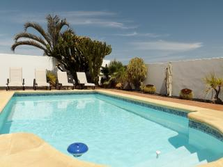 Electrically heated private pool with Roman end for easy access