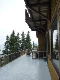 Wraparound porch with views