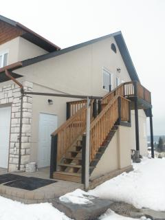 Private separate entrance to 2nd story apartment/suite
