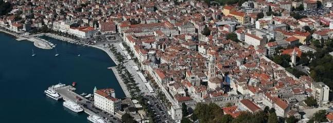 panorama on town Split