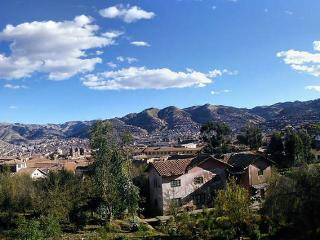 view of the Cusco city  from the windows of  two beedroom and small garden