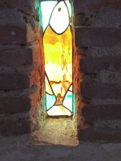 Stained glass in gite