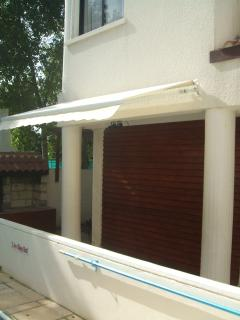 Roller Canopy..... Offering shade over the rear Patio, when needed