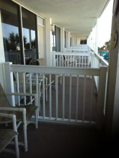 Regular sized balcony (2 chairs/small table) overlooking Daytona Beach