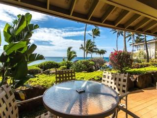Whalers Cove 212 Beautiful oceanfront 2B/2B condo sleeps 6! Heated Pool. Free car with stays 7 nts or more*, Poipu