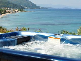 A separate private Jacuzzi/Hot-Tub overlooking the Sea