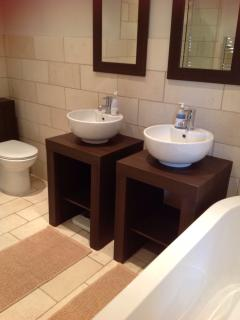 His and her sinks ensuite to king room