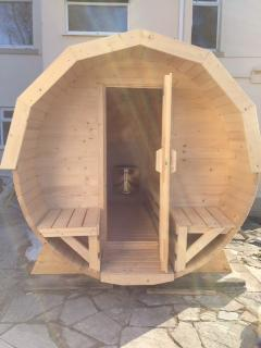 8 Person Barrel Sauna