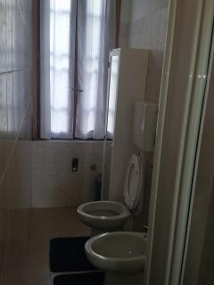 toilette with security for window