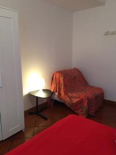 Poltrona letto nella camera due letti o matrimoniale