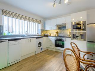 Modern kitchen with integrated coffee machine