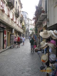 Pizzo's narrow streets