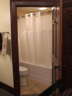 Attached bathroom to bedroom area for added convenience