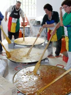 Want some paella? -This is at the local Feria in Fuente Del Conde Begining Of May Every Year
