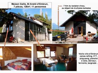Grande Villa EMBRUN, 7pièces: lac, soleil,ballades, Embrun