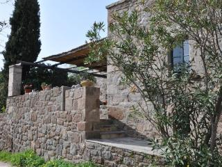 Stone house in traditional village, Aegina