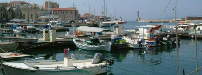 Chania harbour, interesting and beautiful.