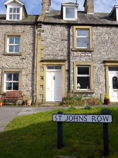 John's Cottage, in the middle of St John's Row, Langcliffe