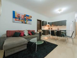Large open plan kitchen, living and dining area