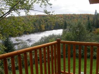 The view of the Batiscan river from our balcony is breathtaking