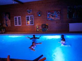 La piscine intérieure chauffée de  10m*5m  et son éclairage multicolore la nui / Indor Swimming pool