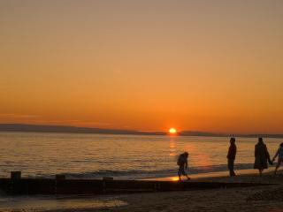 Southbourne beach at sunset