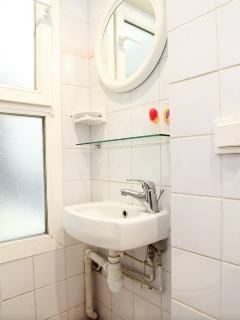 Bathroom under the mezzanine