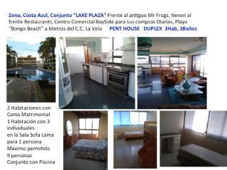 Costa Azul Lake Plaza PentHouse 9pax 4H 2B, Porlamar