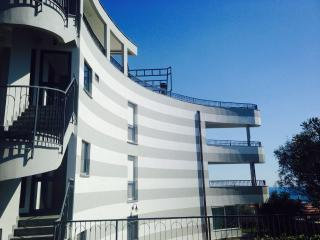 External covered stairs leading to the sun terrace on roof