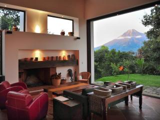 Spectacular design with sunset volcano views, Antigua