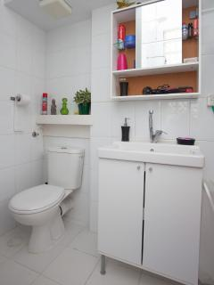 Bathroom: toilet & shower, hair dryer,  shampoo & conditioner, plenty of towels at your disposal