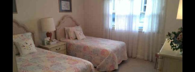 Bedroom number with 2 twin beds full bathroom and large walk in closet