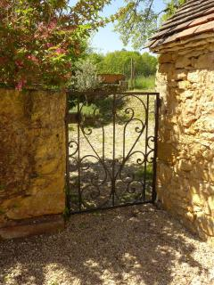 Gate leading to the courtyard