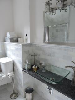 Marble bathroom spaciuos shower