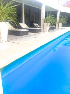 Pool and seating area.