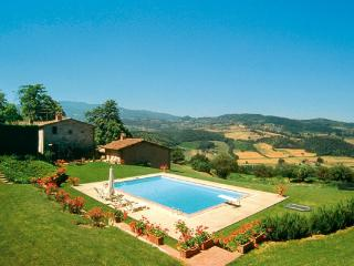 Modest and charming, with a large swimming pool, this restored 13th century villa is located close to Florence HII FRA