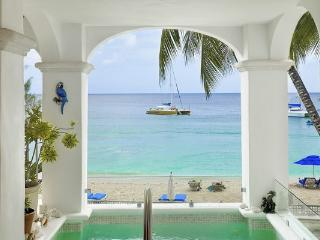 Spacious beachfront apartment with sea views and tropical gardens. WCV CAS, Barbados