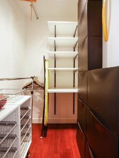 Spacious walk-in closet.