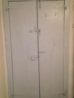 old door in master bedroom