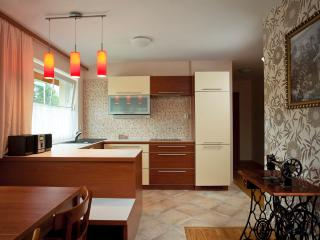 The kitchen-dining room is 17 m² big and has all the equipment for cooking.