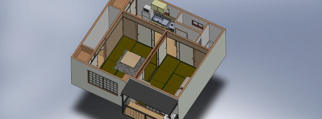 3D map of the apartment.
