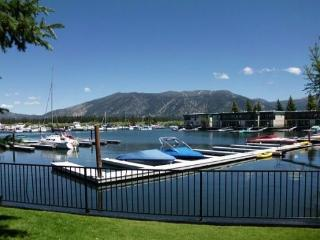 171A-Tahoe Keys beach right out the front door! Unit has boat slip, great