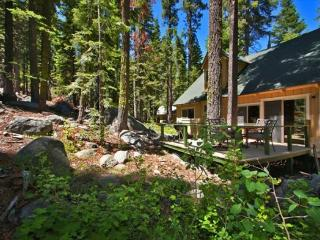 Great Tahoe cabin in the Pines, new back deck, hiking/biking trails close by, Kyburz