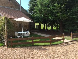 Private garden with BBQ etc