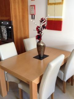Dining area table and chairs