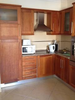 Kitchen are with built in washing machine and dishwasher and cooker
